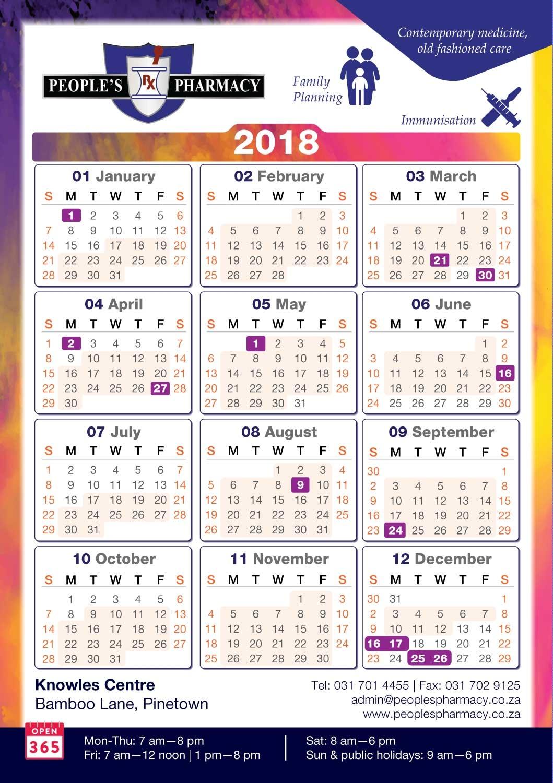 modern upmarket pharmacy calendar design for a company annie Calendar 2018 Design erdferdf