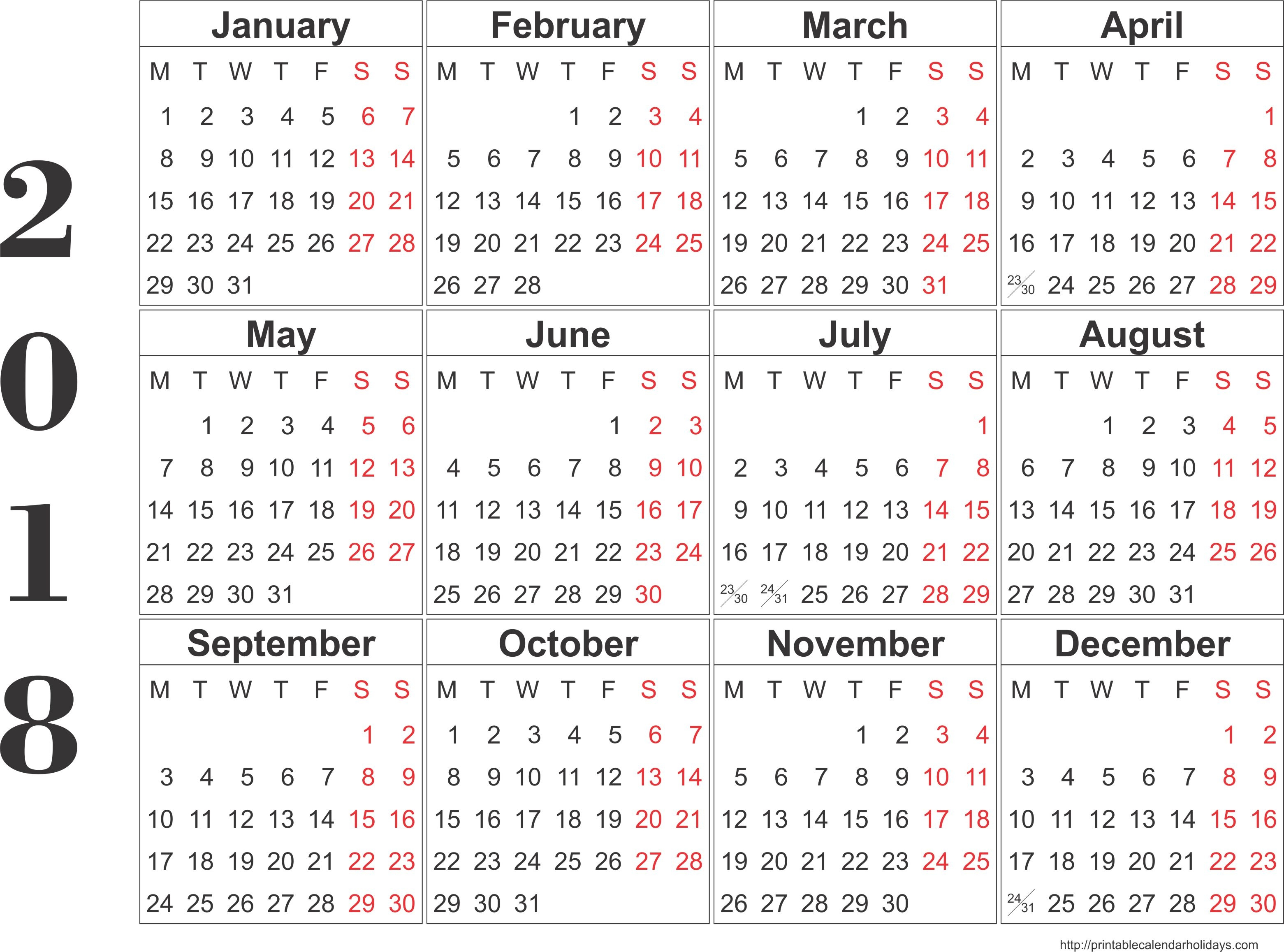 monthly calendar bitcoinrushtk Free Printable 2018 Calendar By Month erdferdf