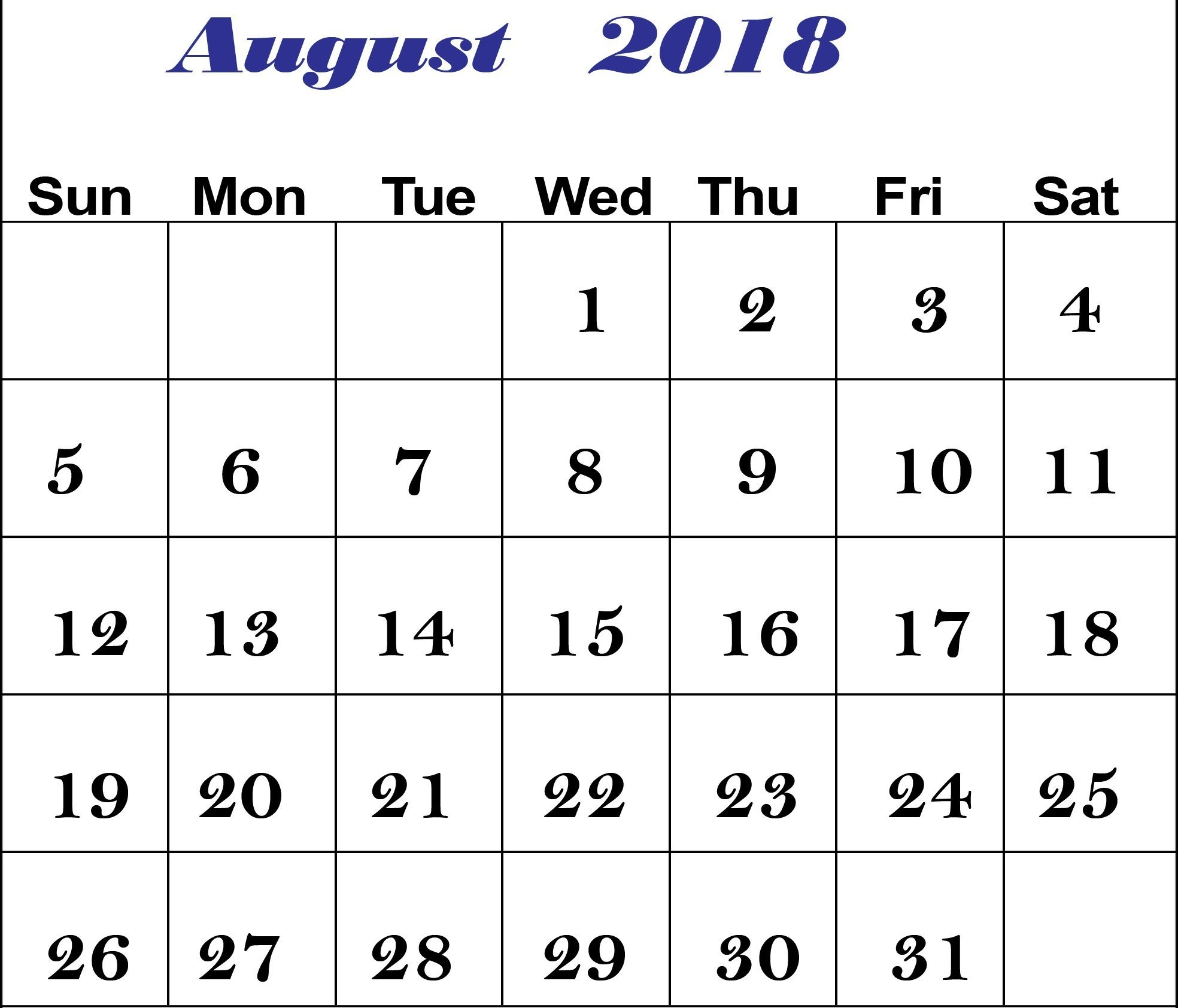 online august 2018 printable calendar printable office templates Calendar August 2018 Printable Worksheets erdferdf