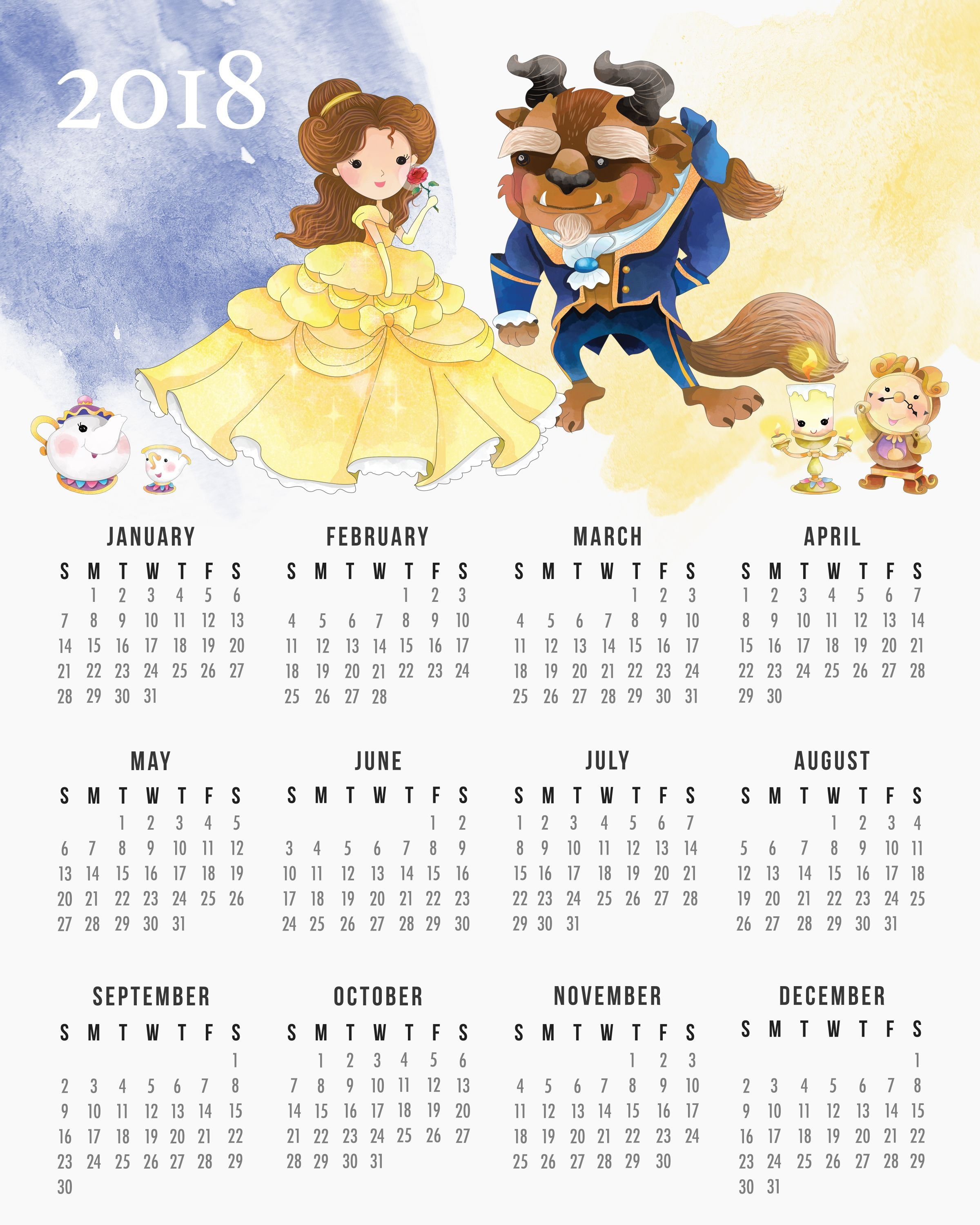 pin ani on calendar 2018 pinterest planners free printable Disney Princess Printable Calendar 2018 erdferdf