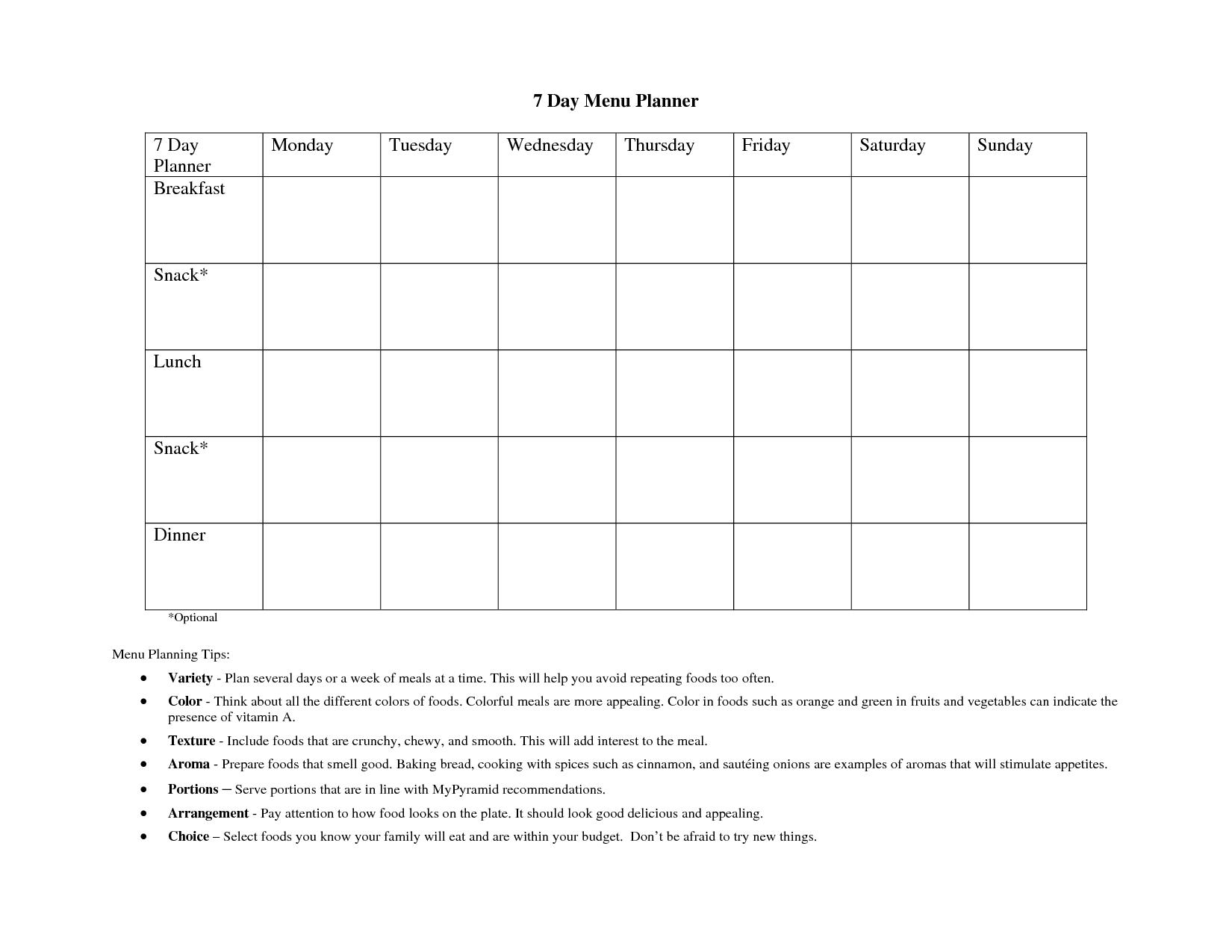 printable 7 day calendar template monday starts with that calendar Free Day To Day Calendar erdferdf