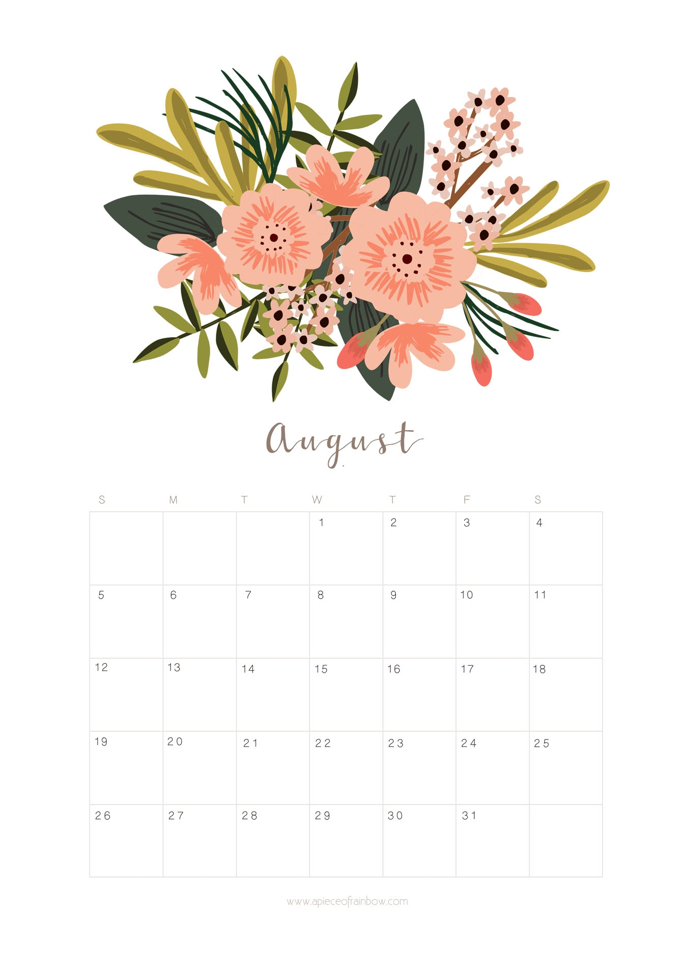 printable august 2018 calendar monthly planner flower design a Calendar August 2018 Printable Schedule erdferdf