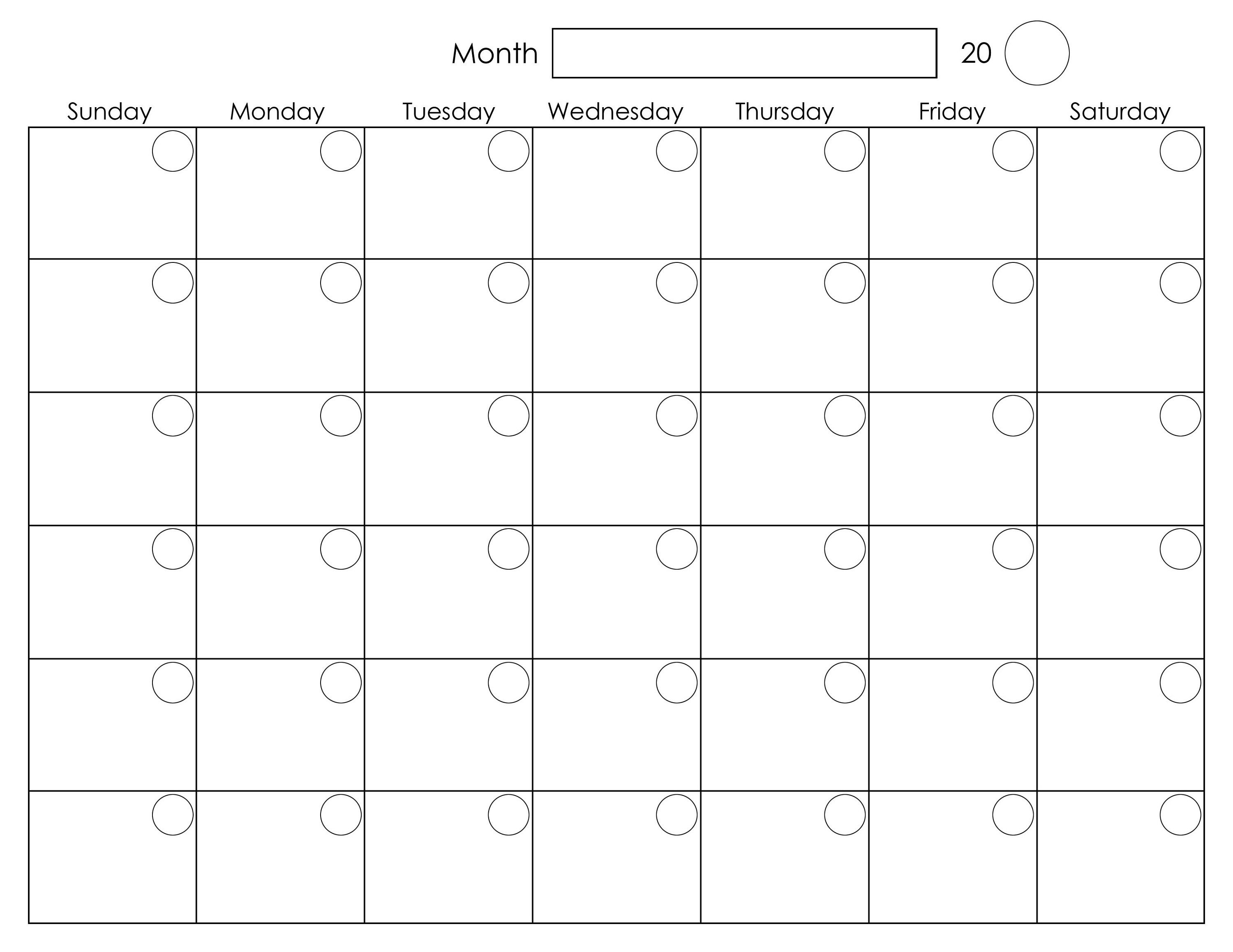 printable blank monthly calendar activity shelter calendar Free Printable Monthly Calendar With Lines erdferdf