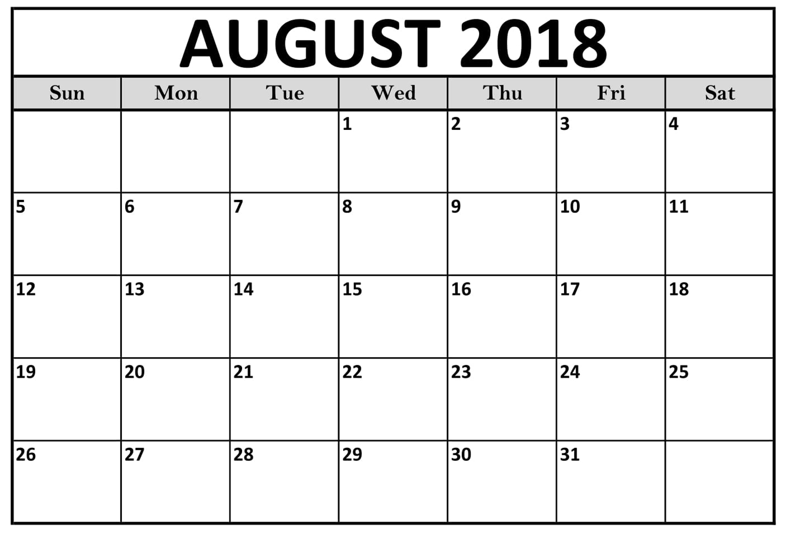 printable calendar august 2018 uk printable calendar templates Calendar August 2018 Printable Uk erdferdf
