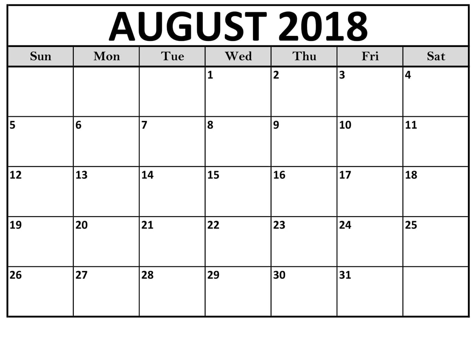 printable calendar august 2018 uk printable calendar templates Calendar August 2018 Printable Uk erdferdf