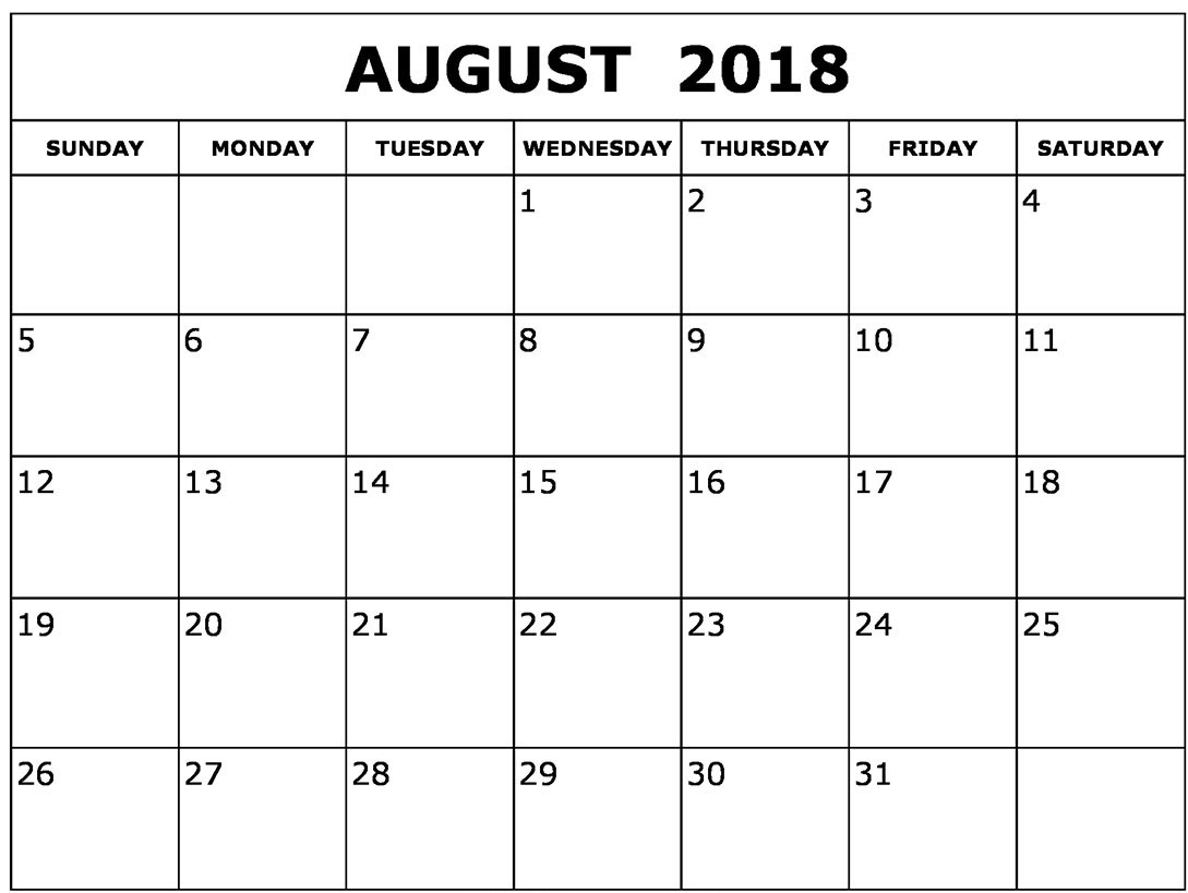 printable calendar templates 2018 sheet pdf with holidays Calendar August 2018 Printable Worksheets erdferdf