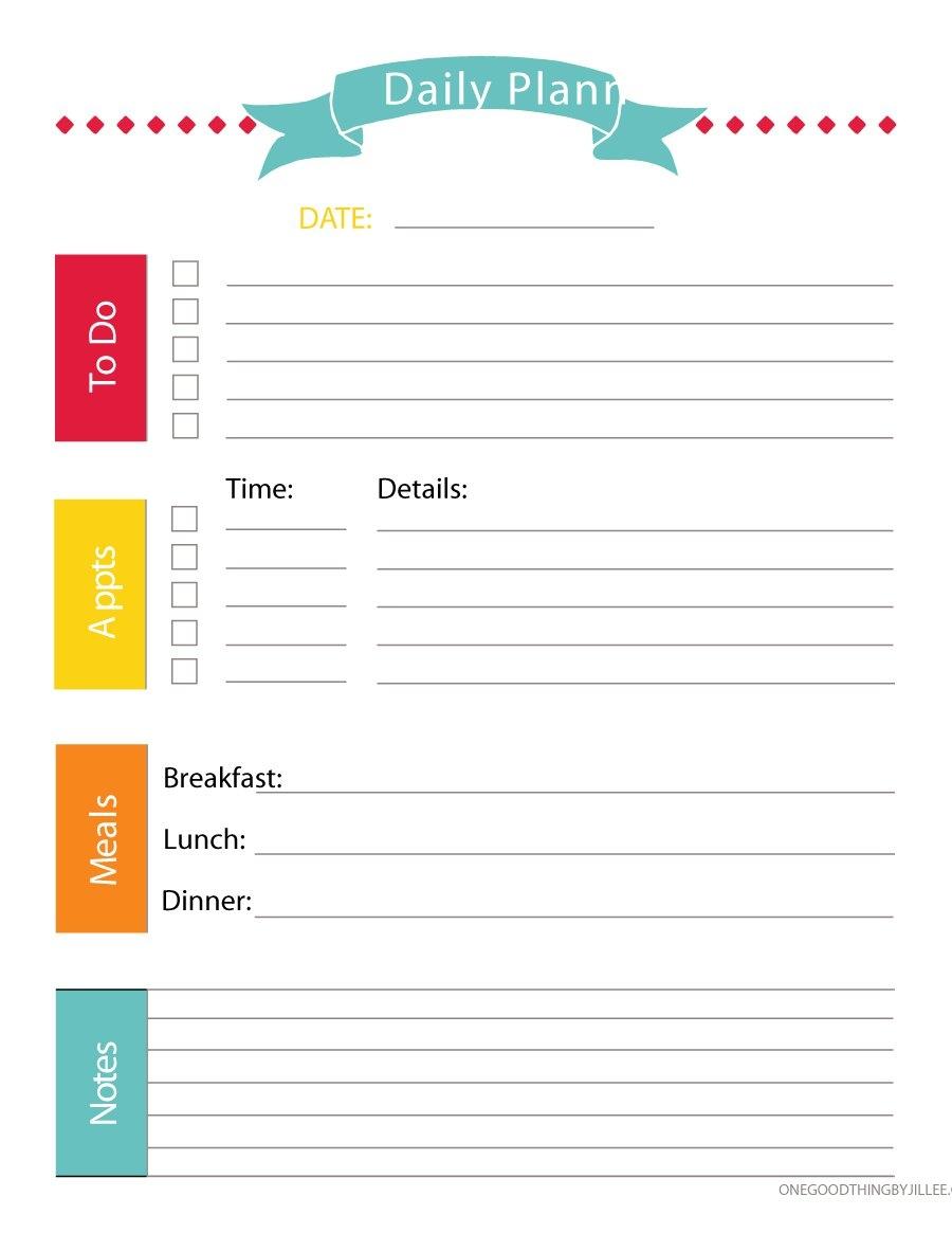 printable daily weekly planner  Cute Printable Daily Planner 2018 erdferdf