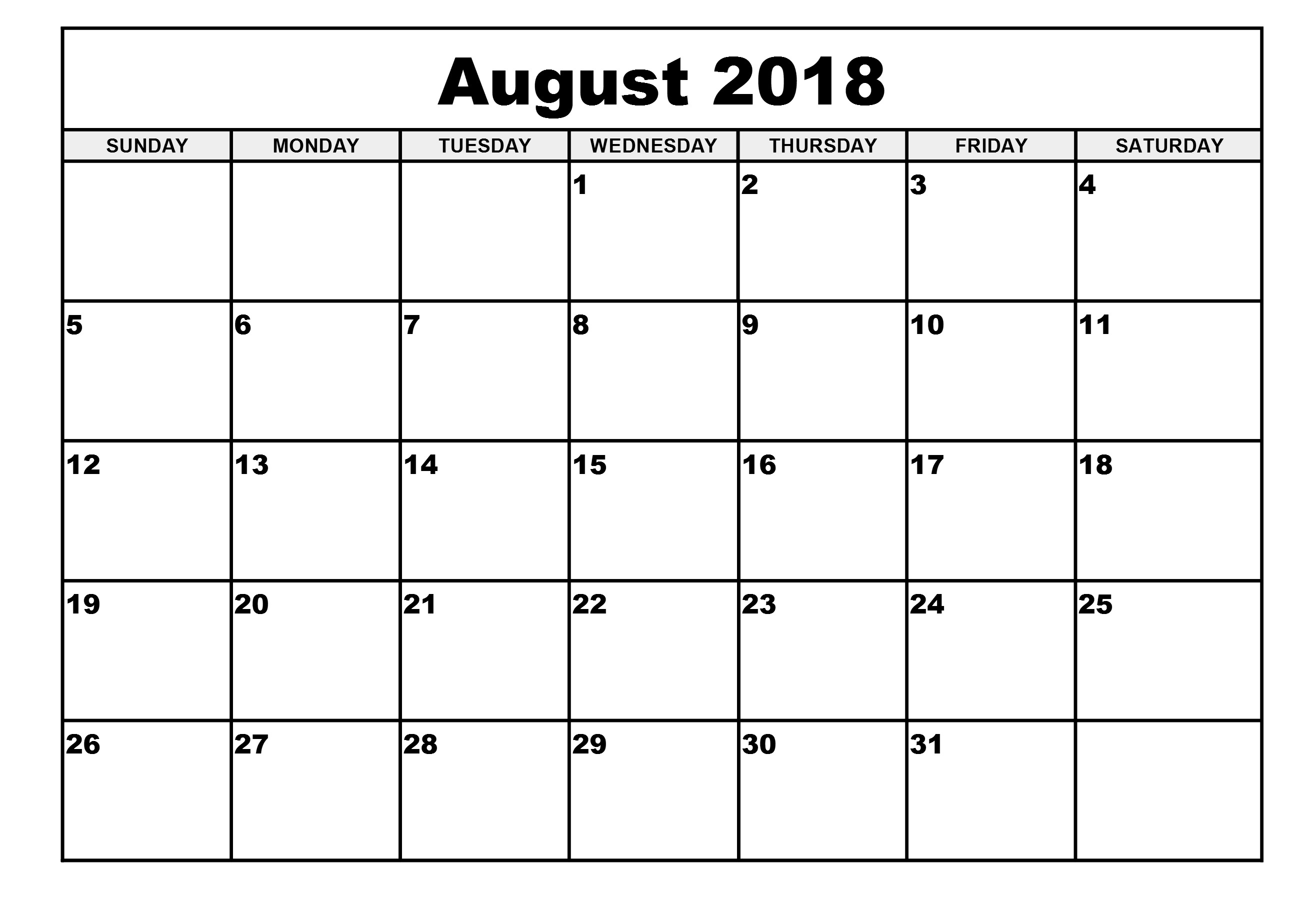 printable monthly calendar templates august 2018 Depo Provera Printable Calendar 2018 August erdferdf