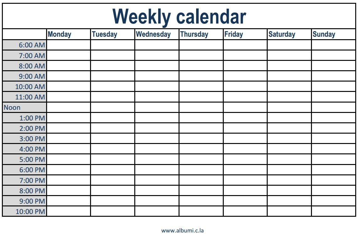 printable weekly calendar with time slots  Printable Weekly Calendar With 15 Minute Time Slots erdferdf