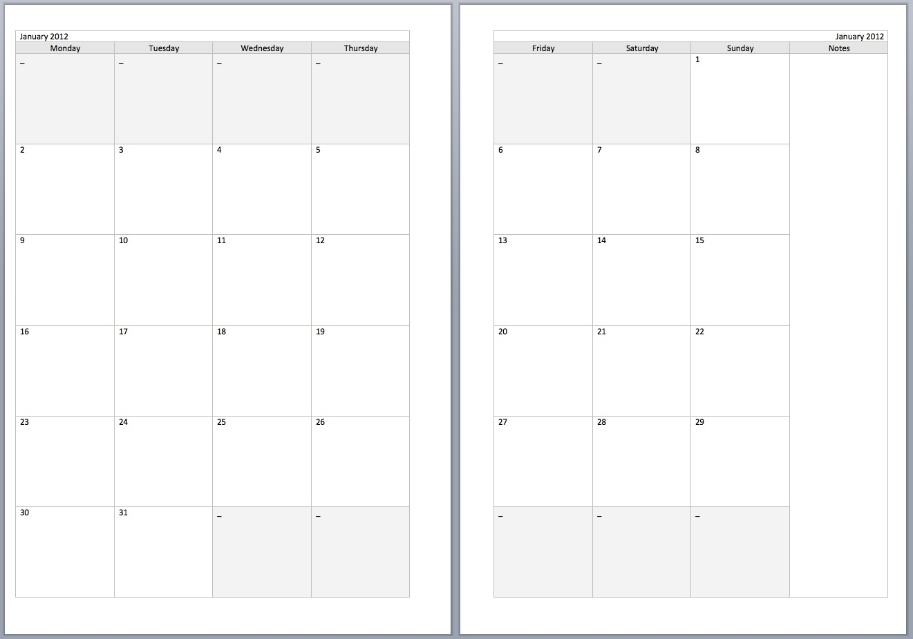 two month calendar template Free Printable Monthly Calendar With Lines erdferdf