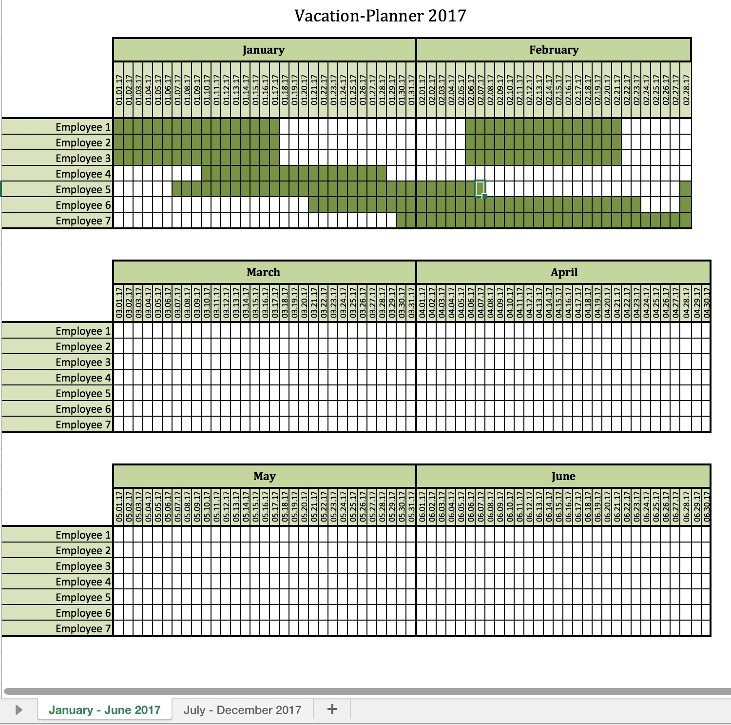 vacation planner 2018 excel templates for every purpose Vacation Planner Calendar 2018 erdferdf