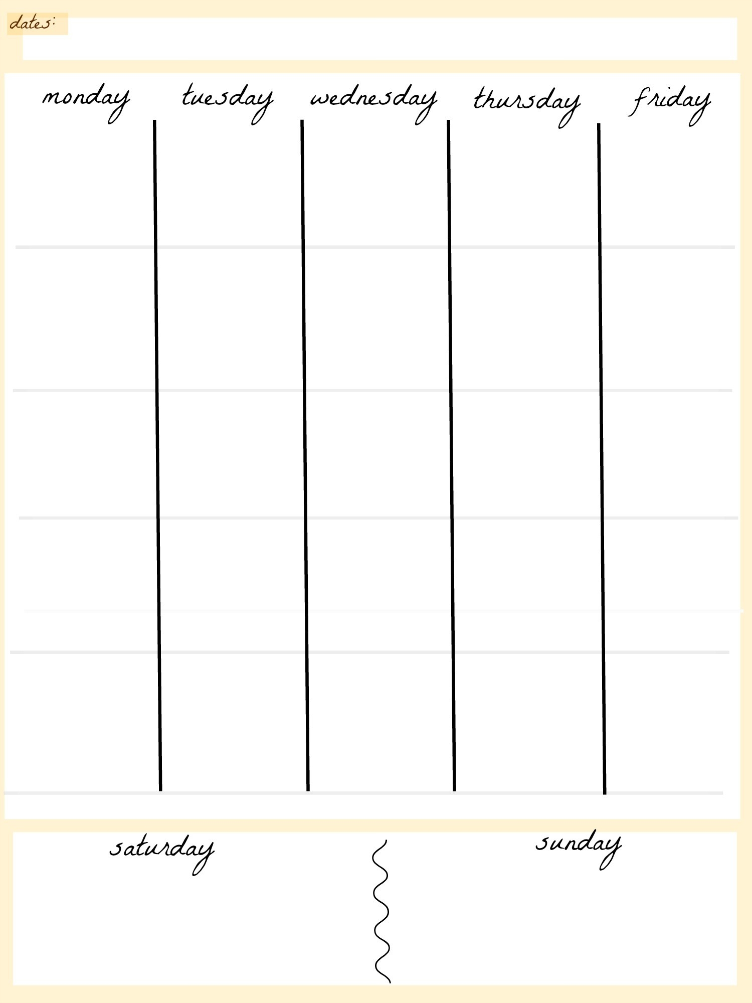 weekly calendar with times slots printable Weekly Calendar With Time Slots Template erdferdf