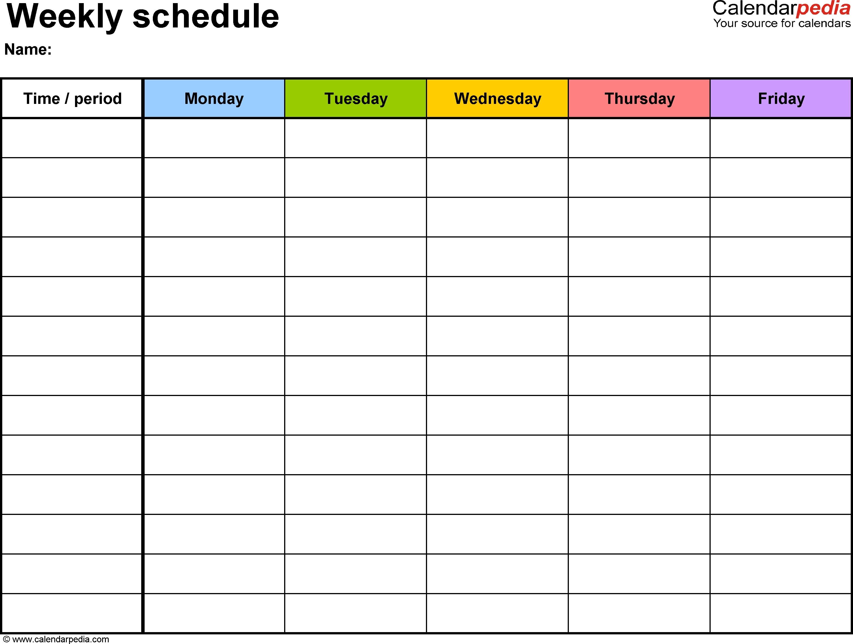 weekly schedule template for word ver free printablesfreebies Cute Printable Blank Calendar Weekly Schedule erdferdf