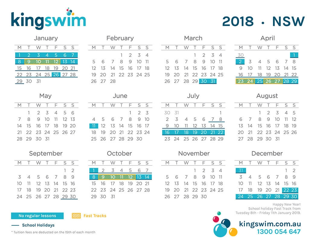Nsw School Holidays 2018 Calendar