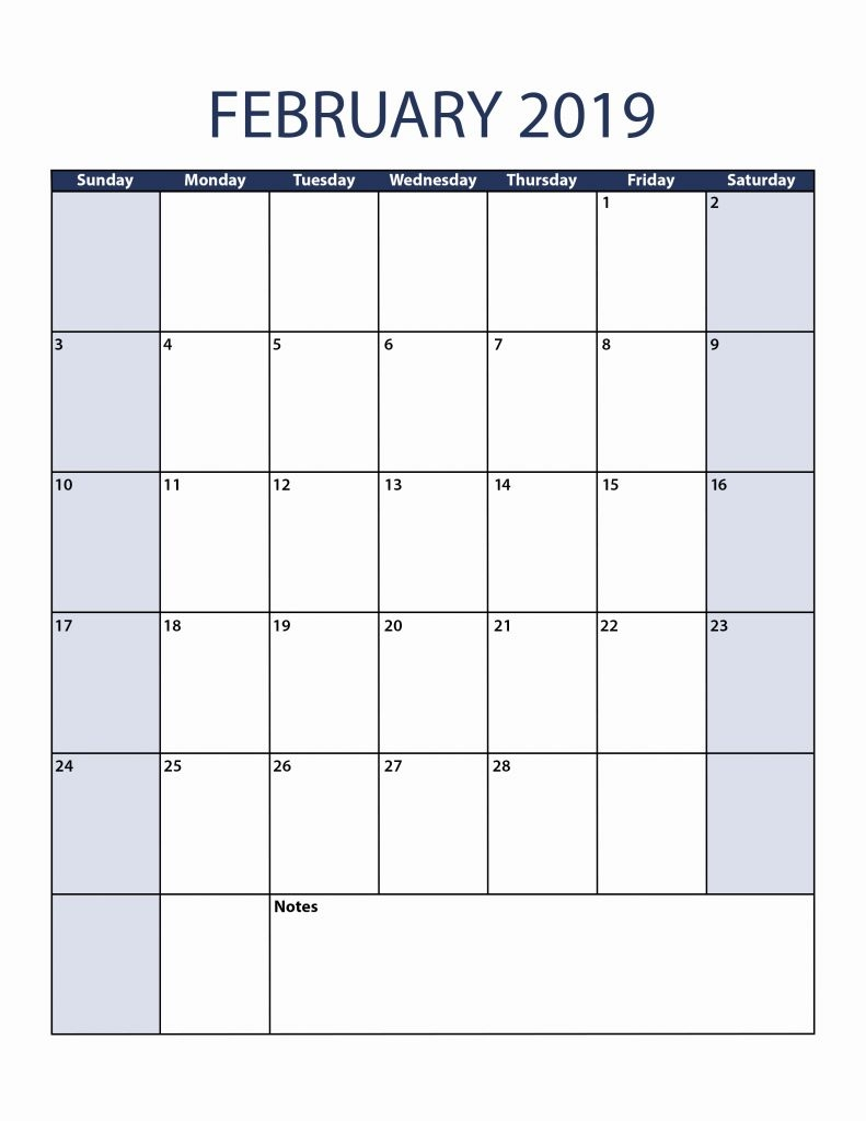 2018 2019 and 2018 monthly calendar printable printable calendar::February 2019 Monthly Calendar
