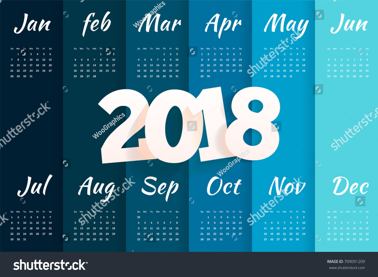 2018 calendar template stylish simple minimal calendar stock vector 2018 Stylish Calendar Templates erdferdf
