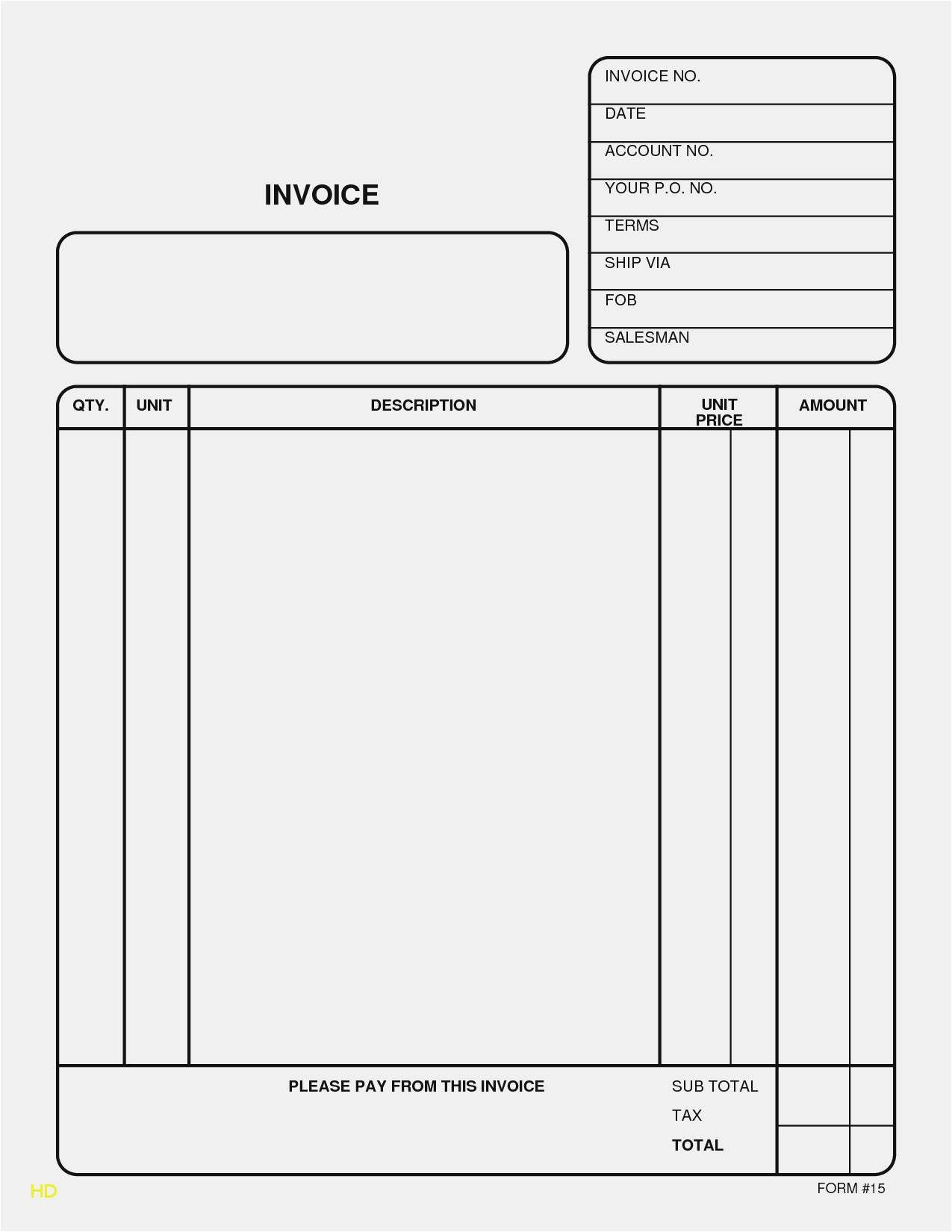 26 new printable invoice pdf new best invoice receipt template::Receipt Template Blank Word PDF