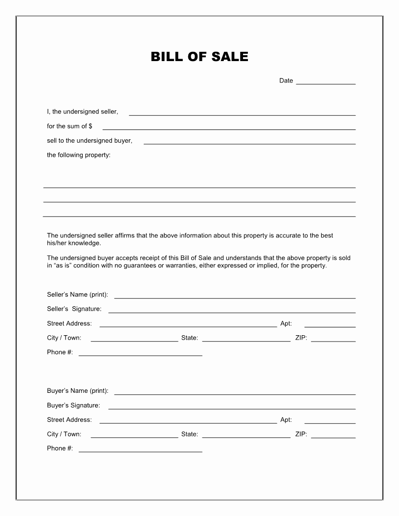 bill of sale car florida template new bill sale free template or::Car Bill of Sale Form Template Printable