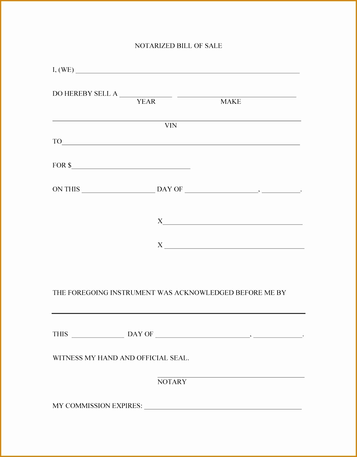 bill of sale doc vatozatozdevelopmentco::Car Bill of Sale Form Template Printable