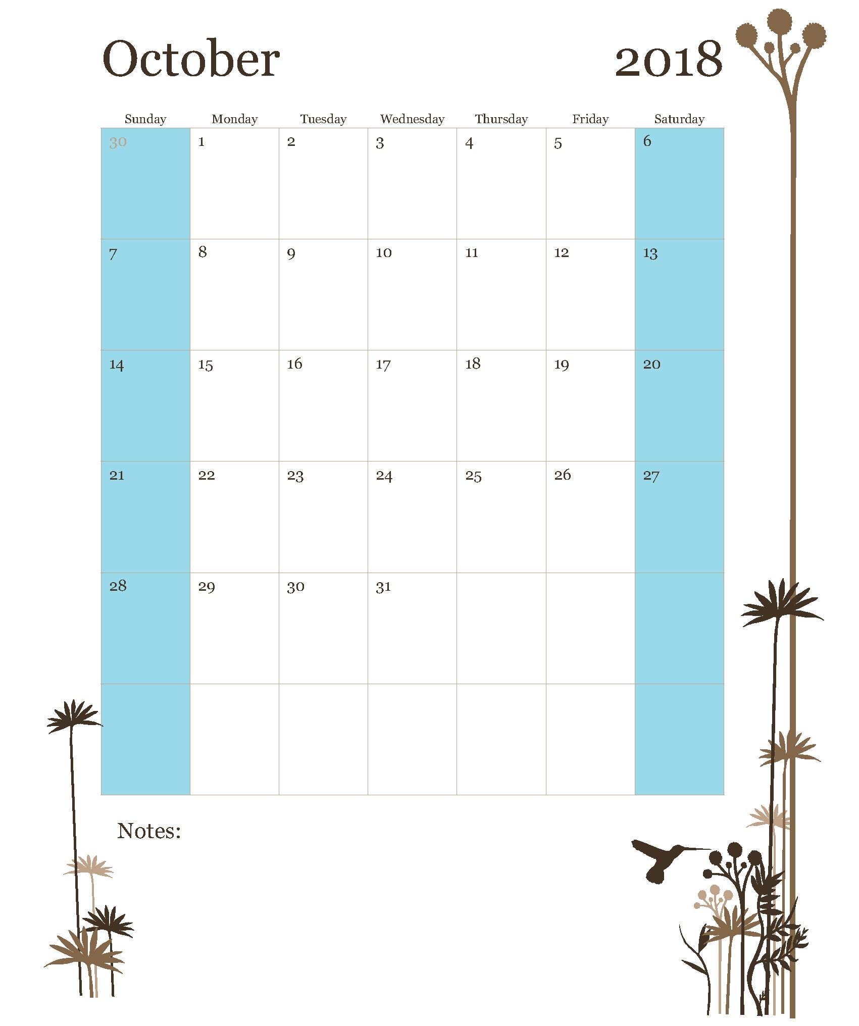 calendar october 2018 template free printable office templates Calendar October 2018 Template erdferdf