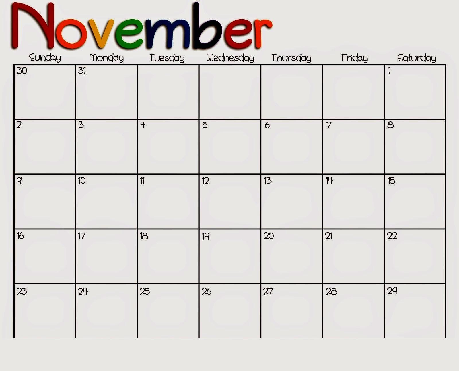 canadian printable calendar november 2018 printable calendar::November 2018 Calendar Canada