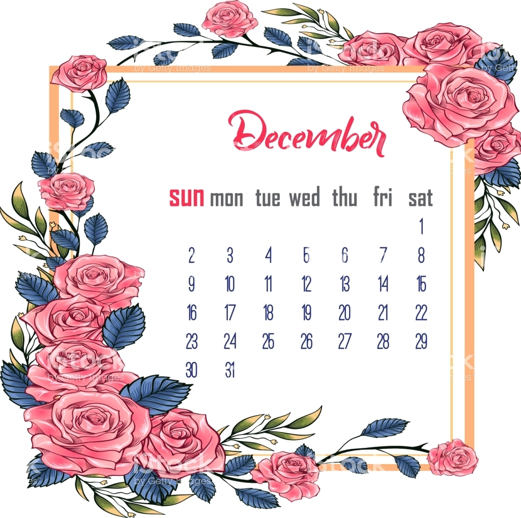 cute december 2018 calendar printable calendar 2018 template excel::December 2018 Calendar Cute