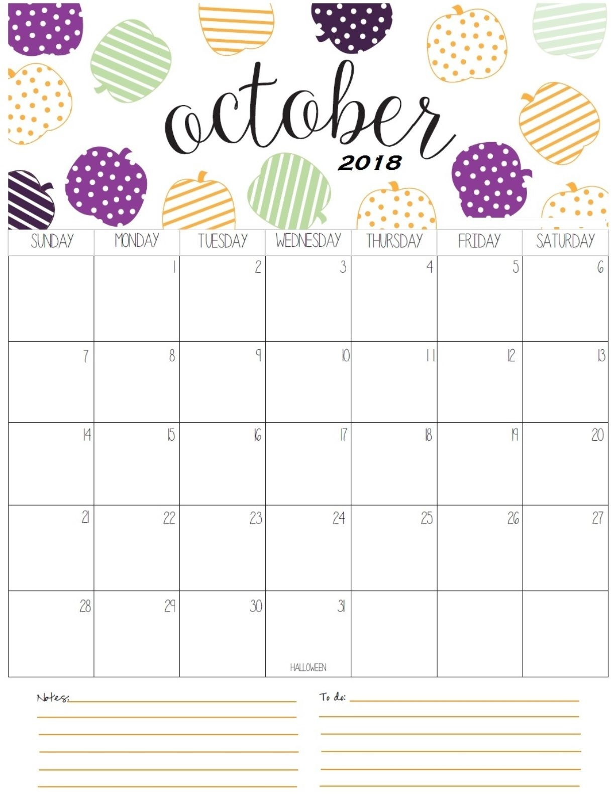 cute october 2018 calendar calendar 2018 pinterest planners October 2018 Calendar Printable Template erdferdf