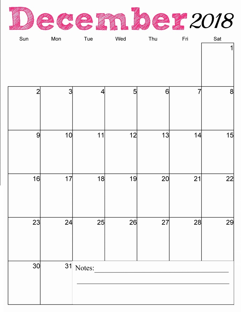 december 2018 calendar printable template business calendar templates::December 2018 Calendar Template