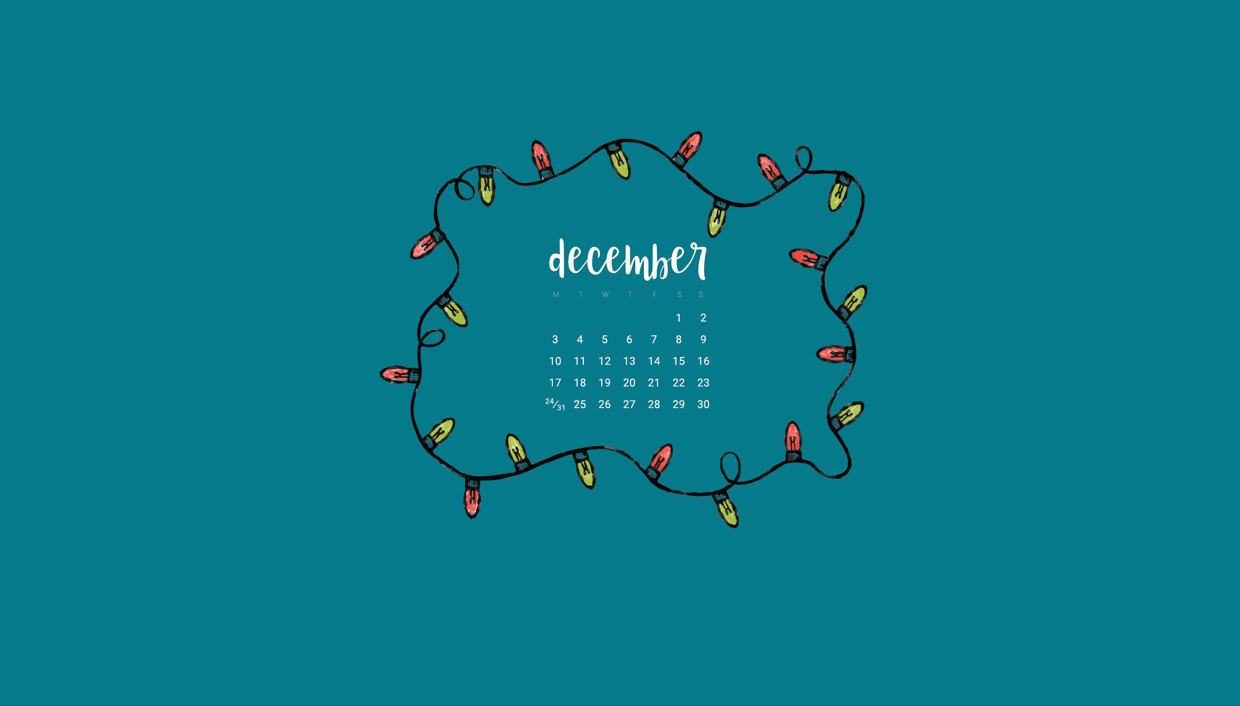 december 2018 calendar wallpaper::December 2018 Calendar Cute