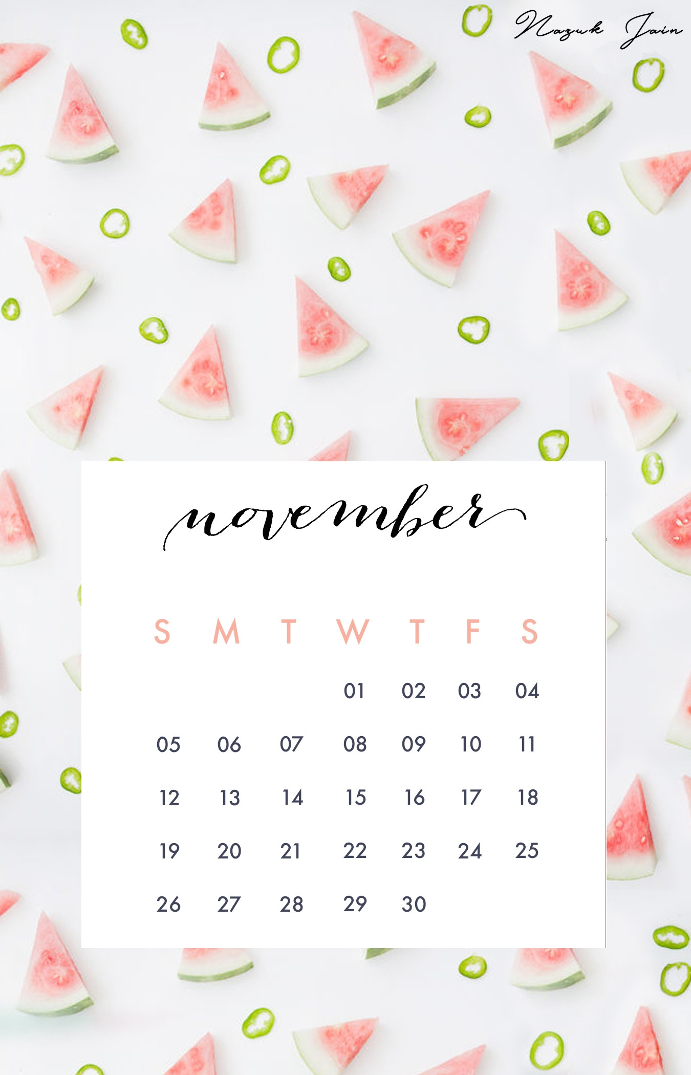 desktop wallpapers calendar july 2018::November 2018 Calendar Printable