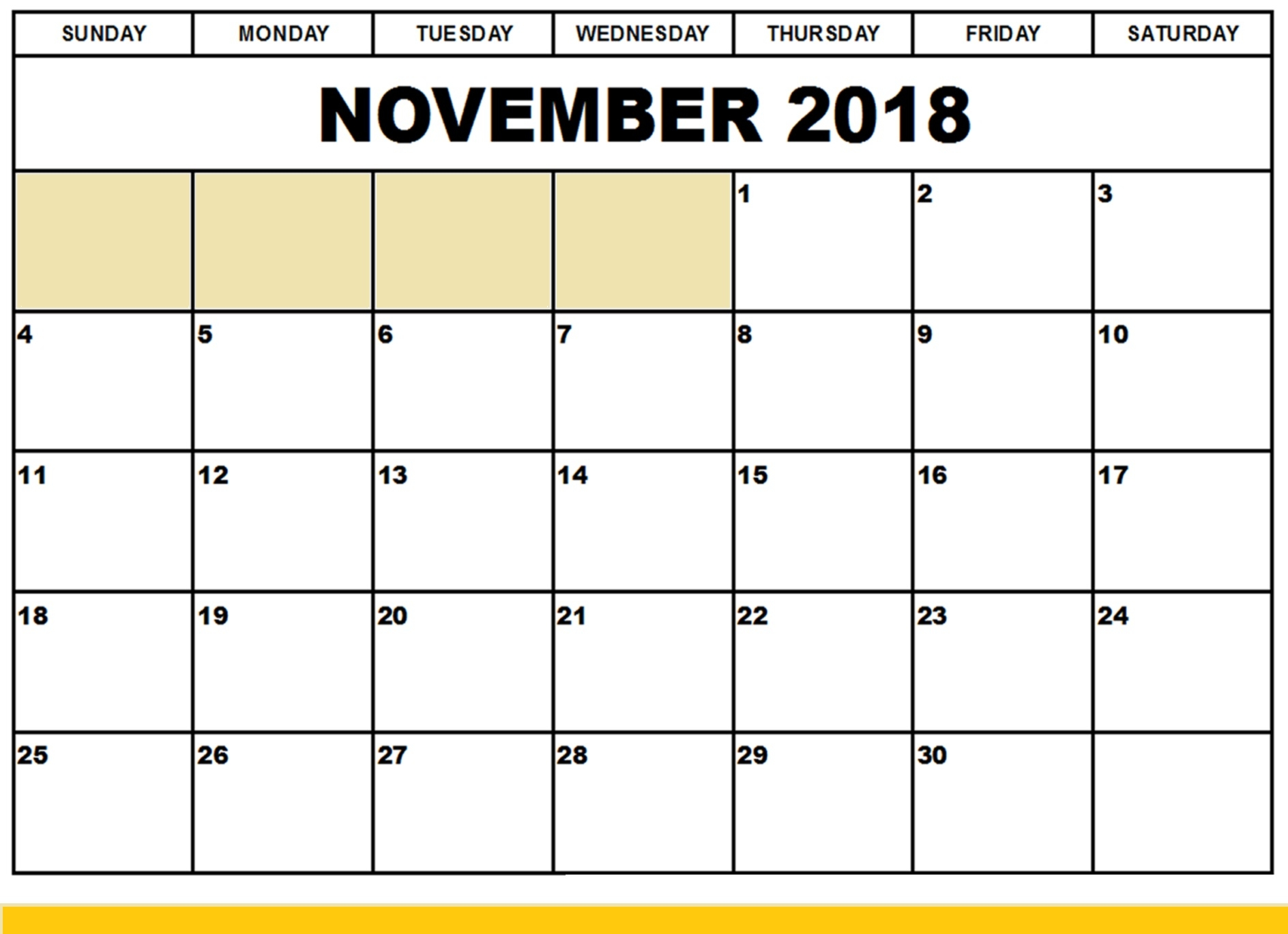 download free printable sample of november 2018 editable calendar Editable November 2018 Calendar erdferdf