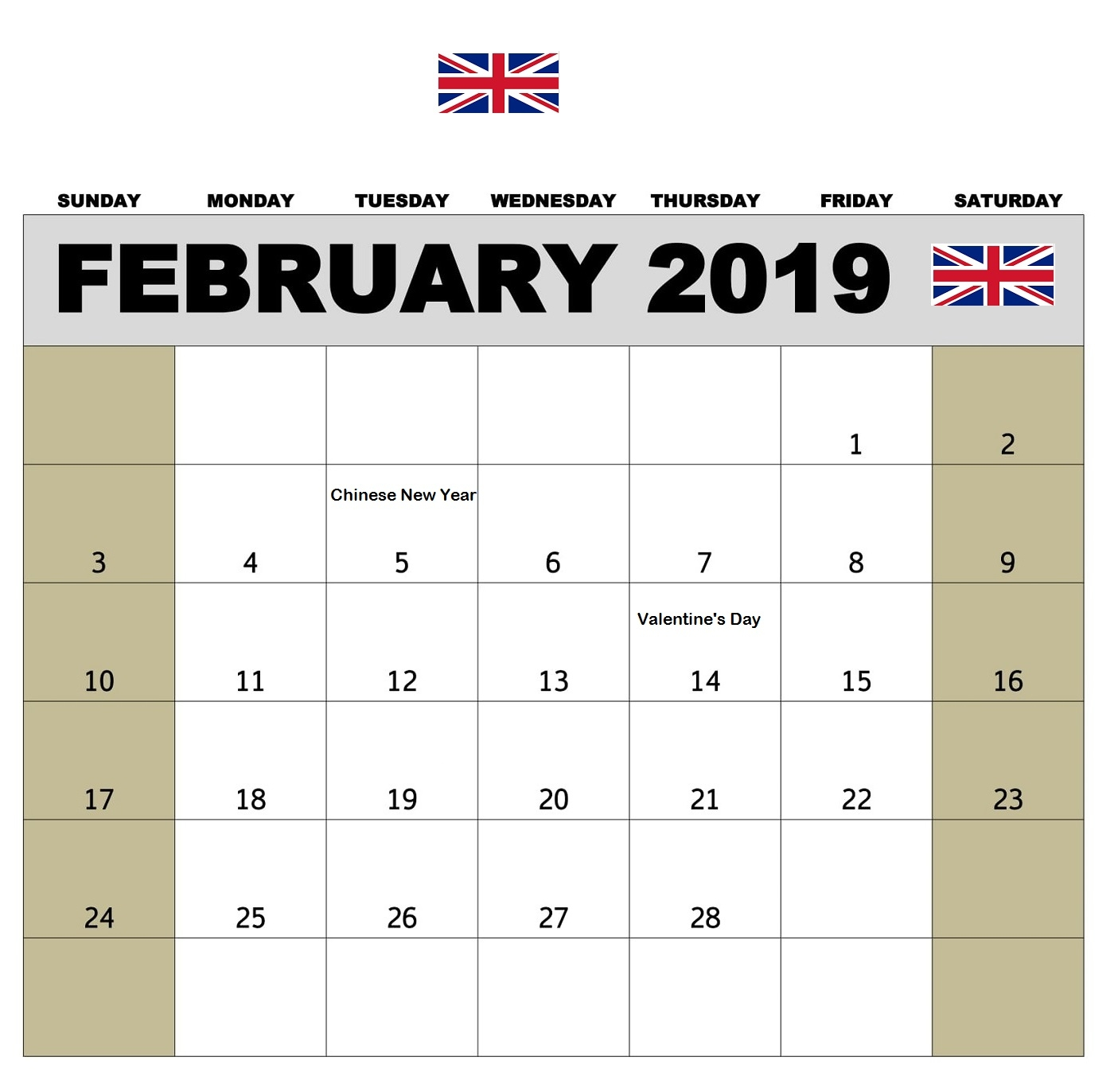 february 2019 calendar with holidays calendar 2019 February 2019 Calendar erdferdf