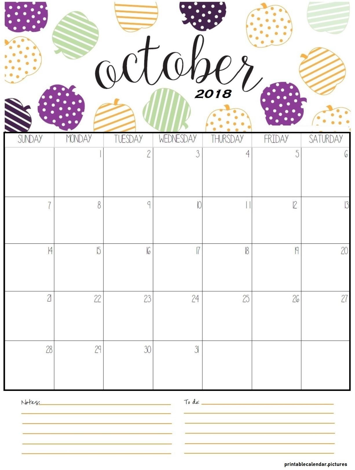 free 2018 october calendar template word printable calendar Free October 2018 Calendar Word Document erdferdf