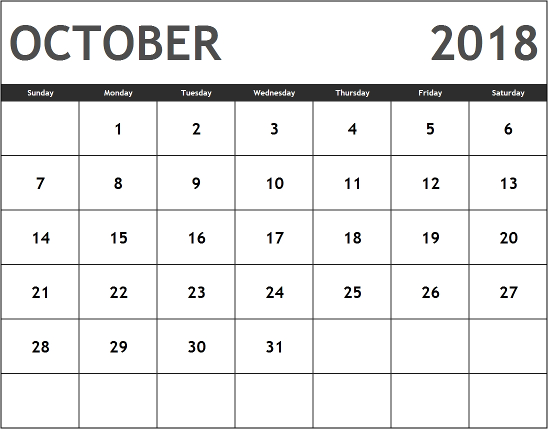 free calendar printable templates store part 2 October 2018 Calendar Holidays USA erdferdf