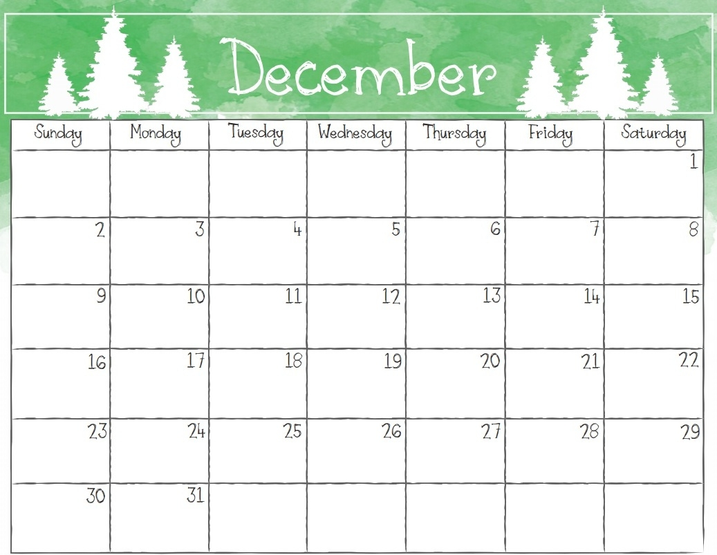 free december 2018 calendar pdf excel word template september::December 2018 Calendar Template