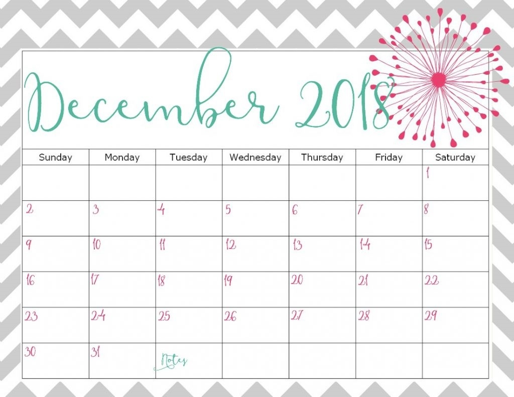 free december 2018 calendar printable free printable calendar::December 2018 Calendar Printable Template