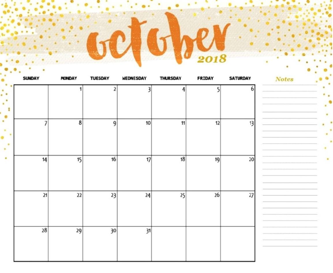 free editable calendar october 2018 free printable calendar templates October 2018 Calendar Free erdferdf