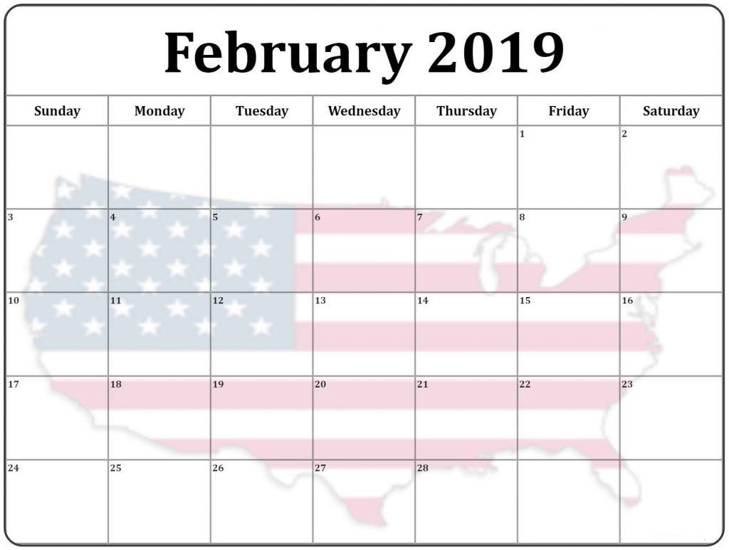 free february 2019 calendar with holidays free printable calendar February 2019 Calendar erdferdf