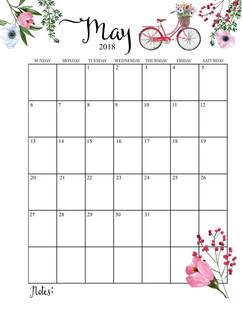 free may 2018 cute calendar pink design Cute Free Monthly Printable Calendar 2018 erdferdf