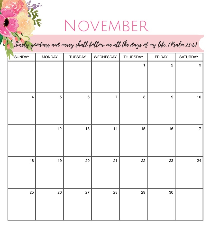 free november 2018 blank printable calendar templates august 2018::November 2018 Calendar Template