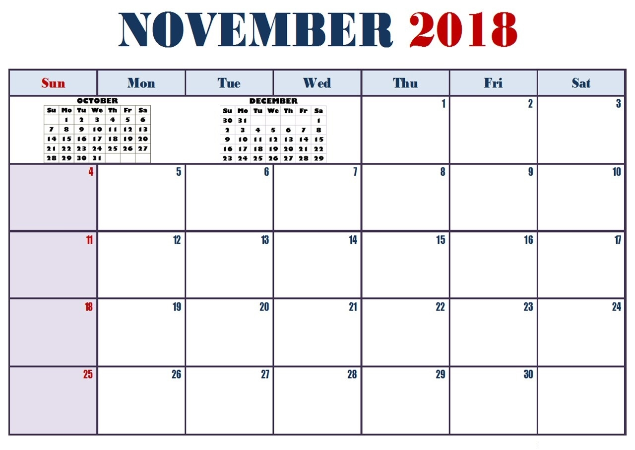 free november 2018 calendar word pdf excel template may 2019::November 2018 Calendar Pdf
