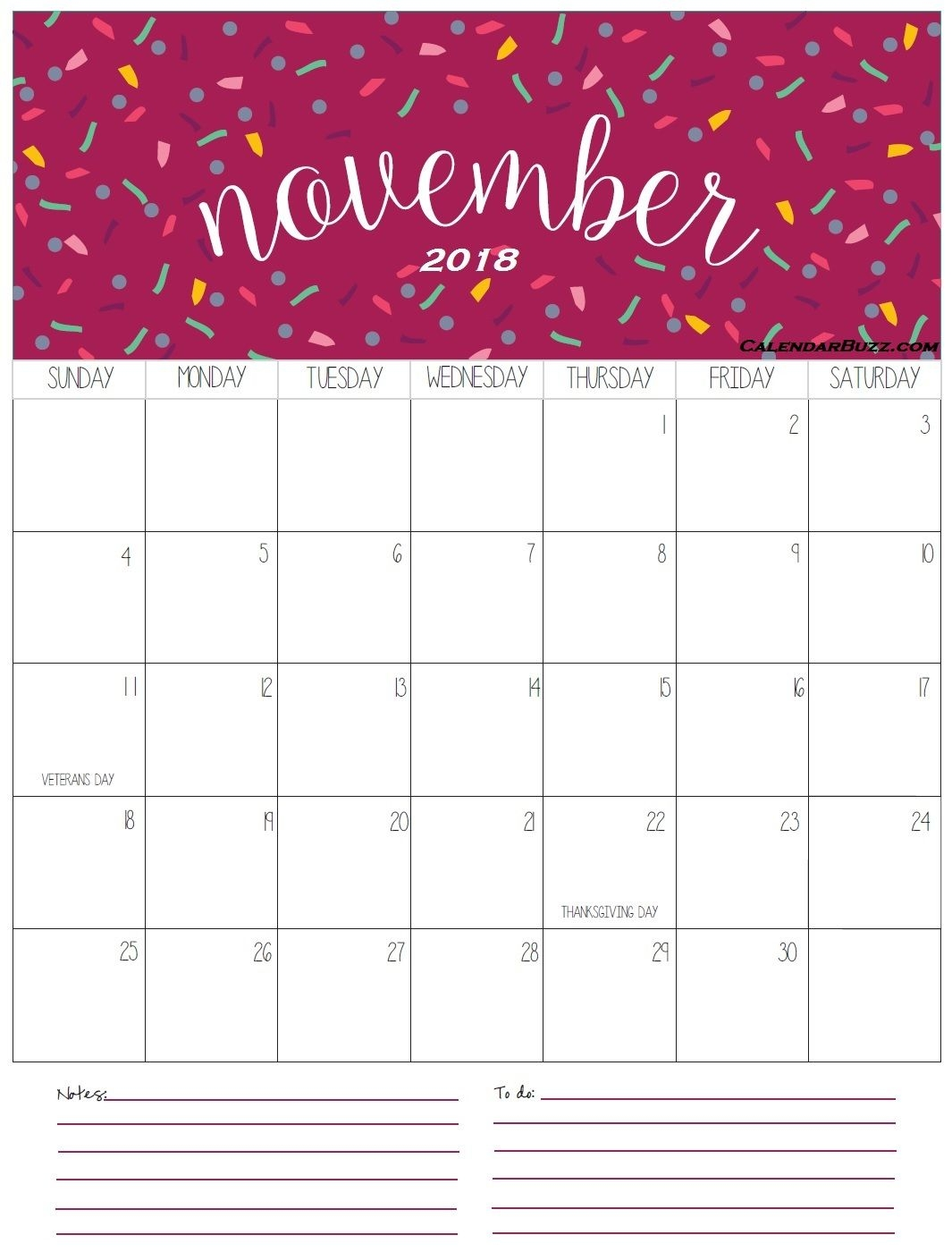 free printable october november 2018 blank calendar august 2018::November 2018 Calendar Template