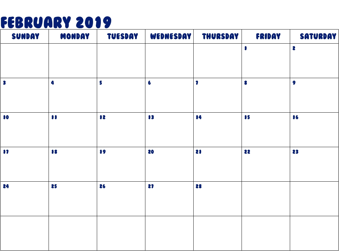 get february 2019 calendar a4 download march 2019 calendar February 2019 Calendar erdferdf