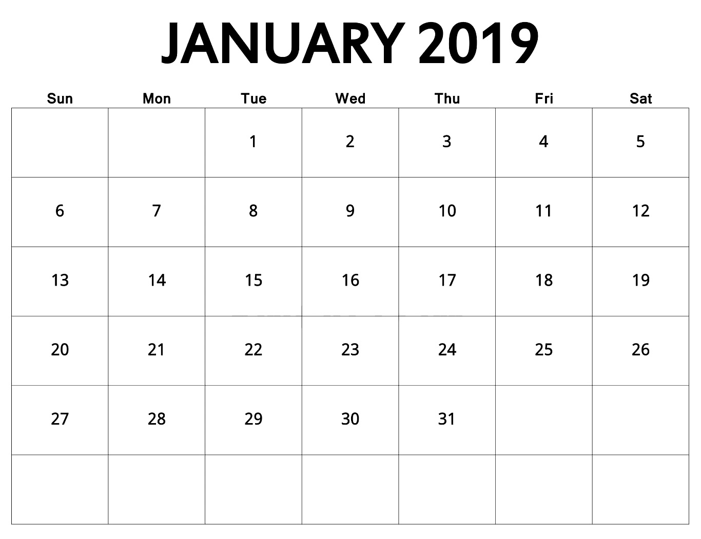 january 2018 printable calendar templates incredible january::January 2019 Calendar with Holidays Printable