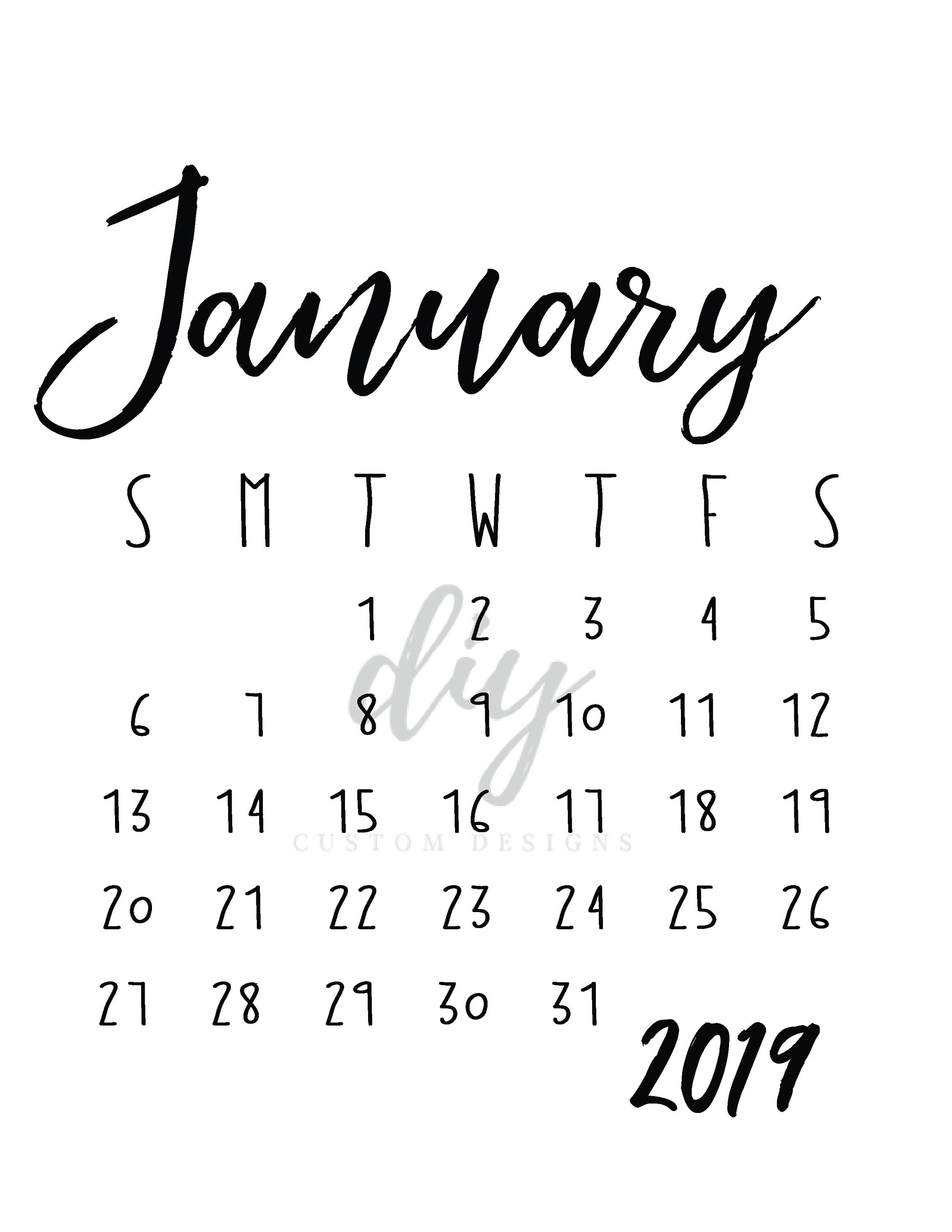 january 2019 ba announcement calendar birth announcement ideas::January 2019 Calendar Canada