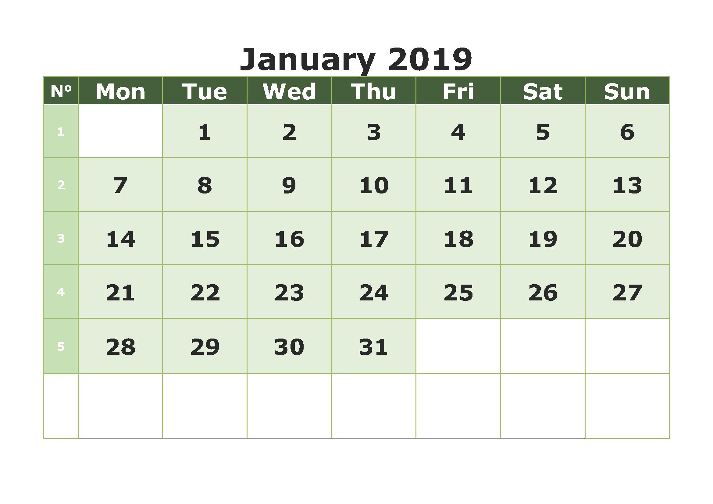 january 2019 calendar download january calendar january 2019::January 2019 Monthly Calendar