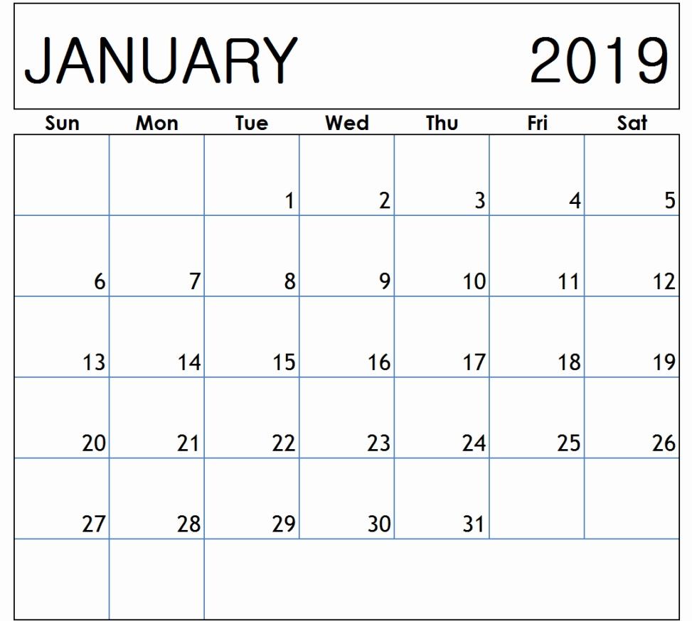 january 2019 calendar january 2019 calendar printable template::January 2019 Calendar with Holidays Printable