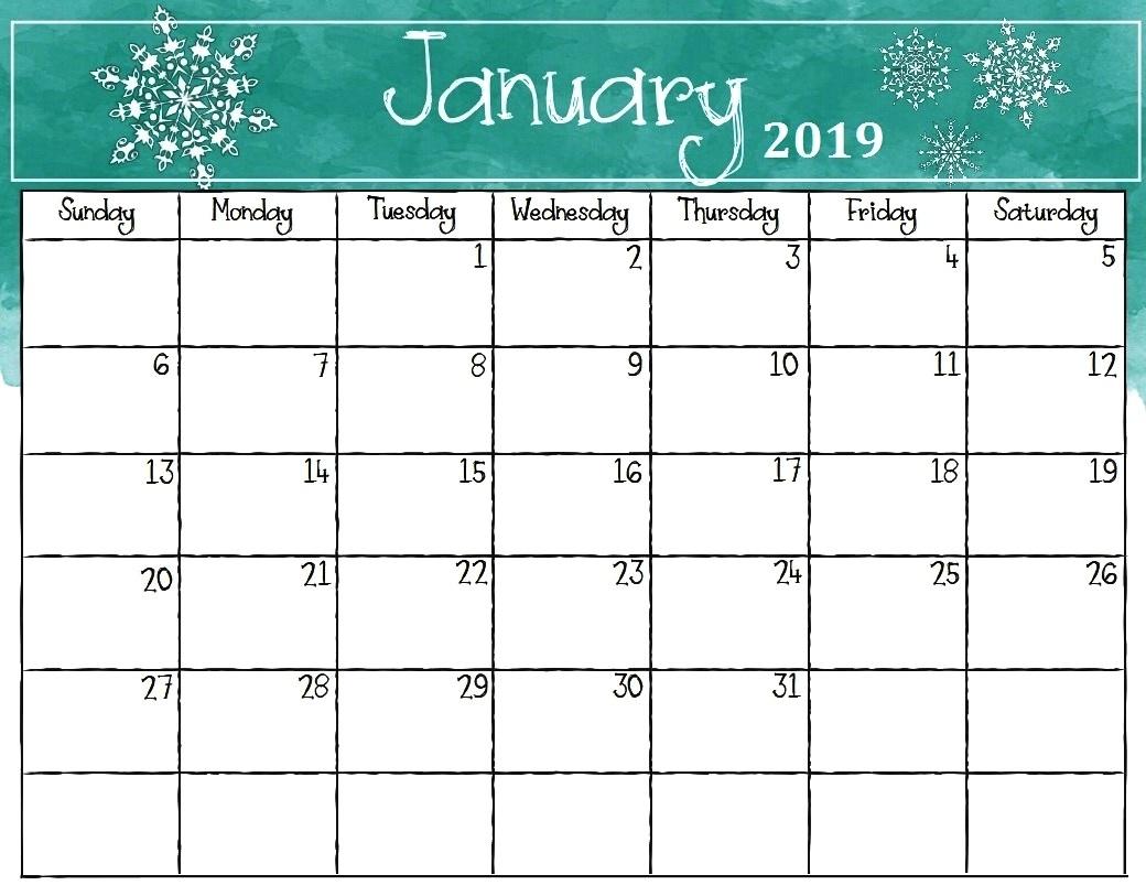 january 2019 calendar page free printable printable calendar 2018::January 2019 Calendar Excel
