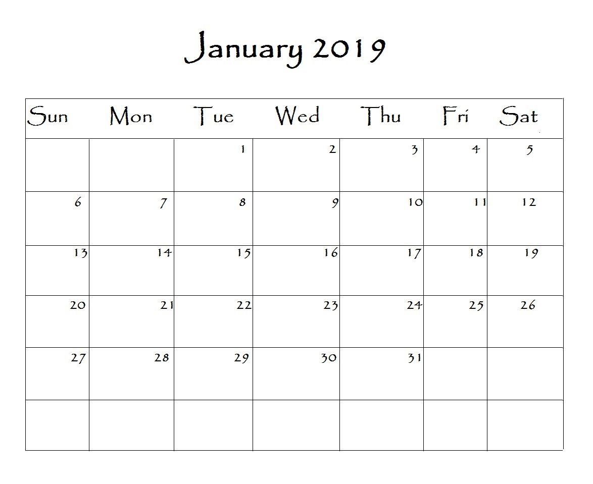 january 2019 calendar word monthly calendar templates pinterest::January 2019 Calendar Word