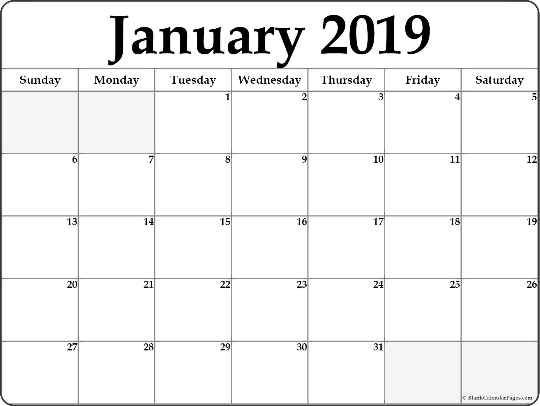 january 2019 free printable blank calendar collection January 2019 HD Calendar Wallpapers erdferdf